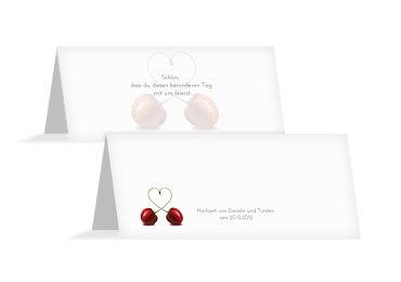 Hochzeit Tischkarte Kirsche