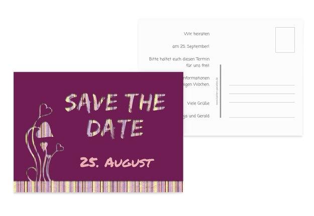 Hochzeit Save-the-Date Wir heiraten