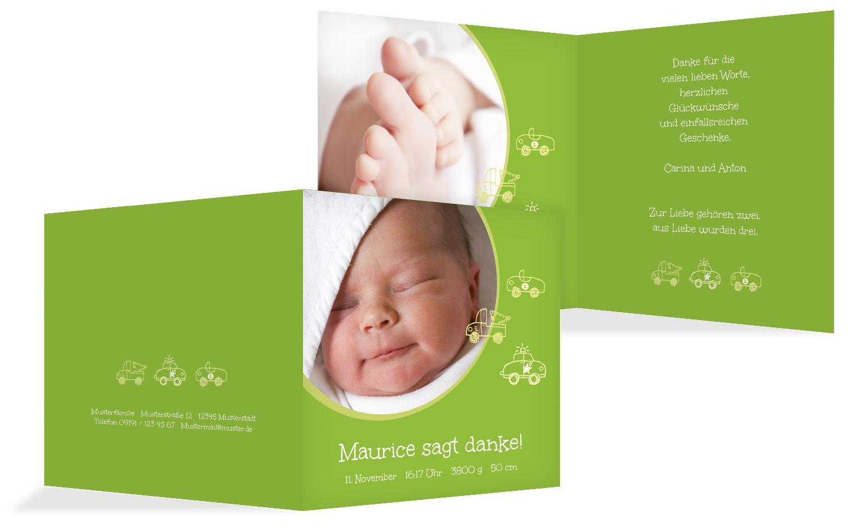 Baby Dankeskarte Mobil