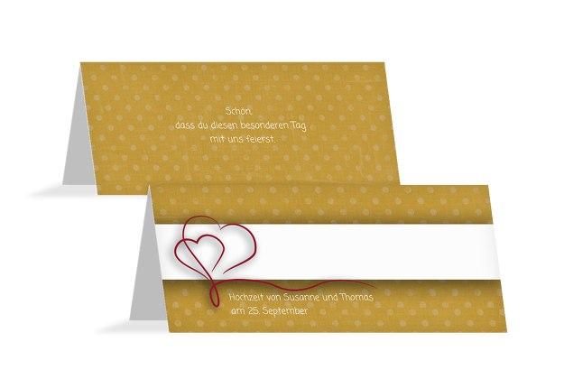 Hochzeit Tischkarte Gepunktet