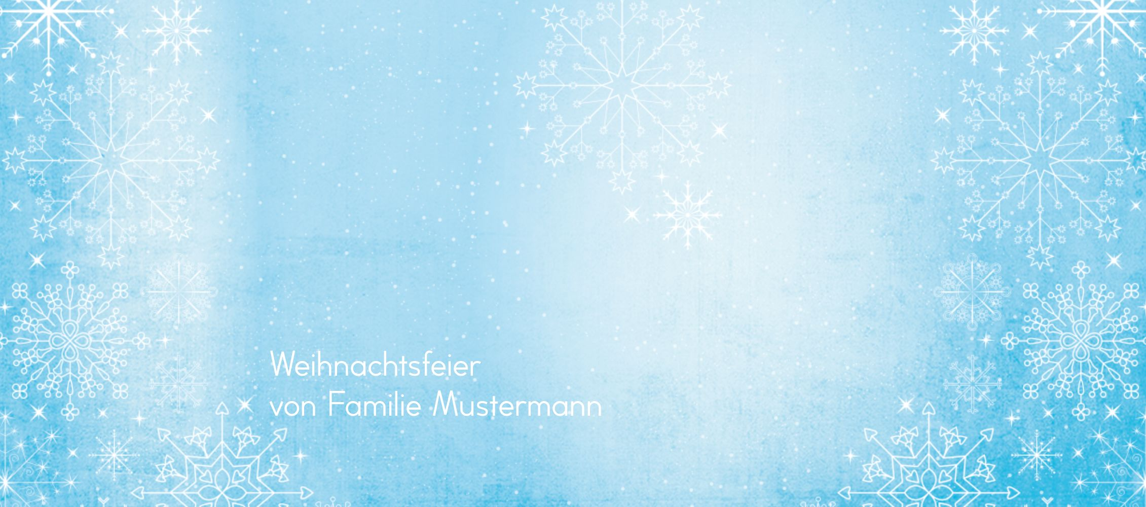 Ansicht 3 - Tischkarte Wintertraum