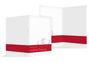 Hochzeit Kirchenheft Umschlag Herzensband