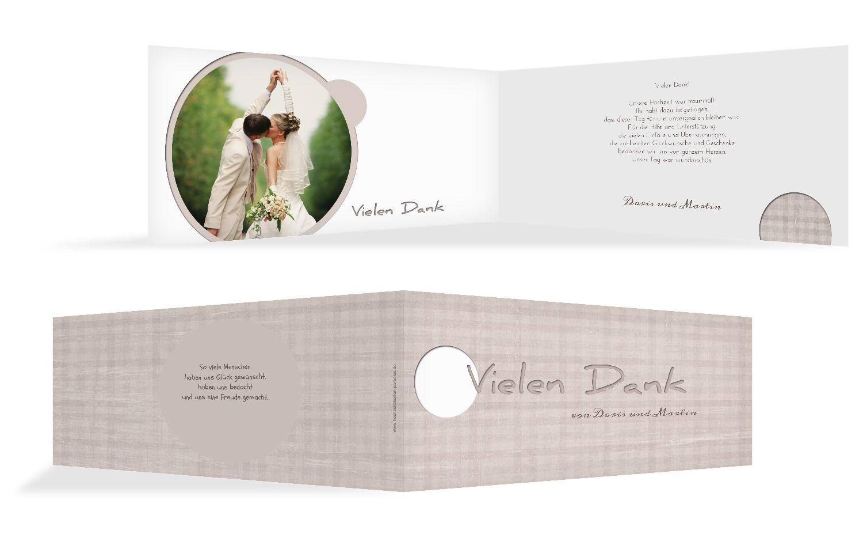 Hochzeit Dankeskarte wedding harmony