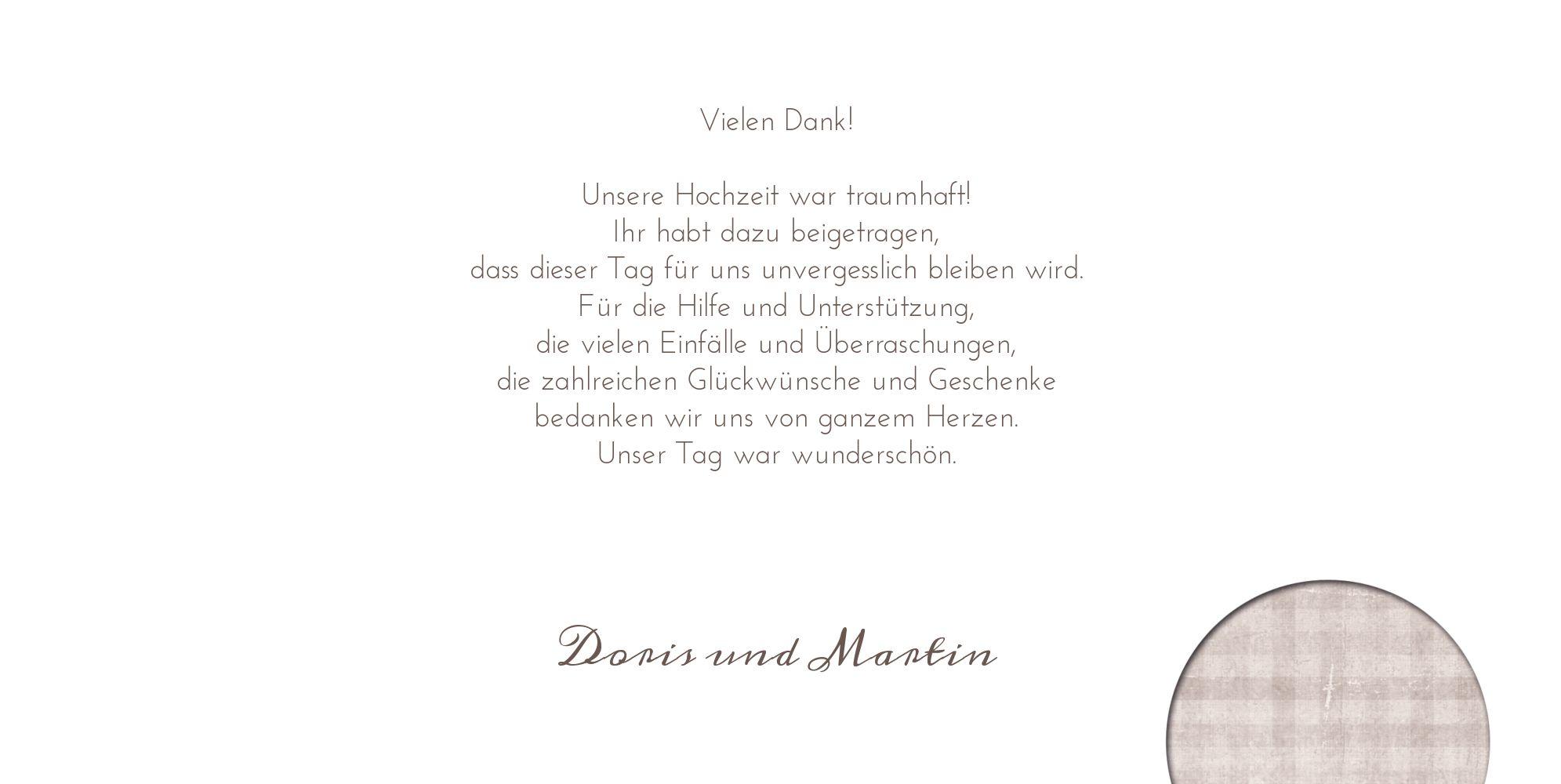Ansicht 5 - Hochzeit Dankeskarte wedding harmony