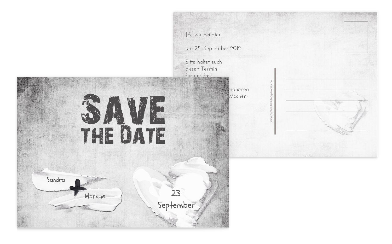 Save-the-Date Du + Ich = Liebe