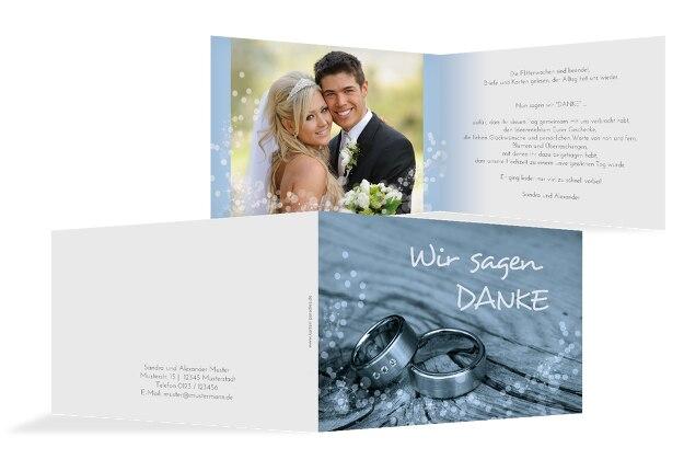 Hochzeit Dankeskarte Eheringe