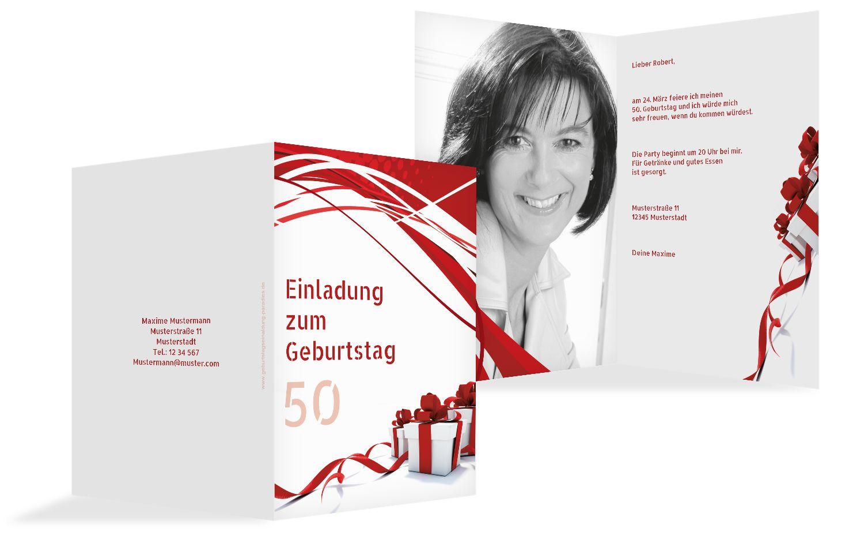 Geburtstag Schleifenband 50 Foto
