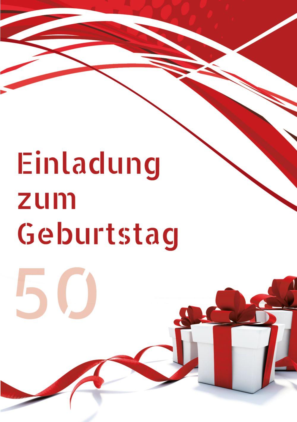 Ansicht 3 - Geburtstag Schleifenband 50 Foto