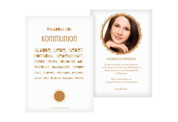 Kommunionskarte Spruchkreis
