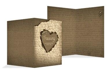 Hochzeit Kirchenheft Umschlag Herzensgedicht