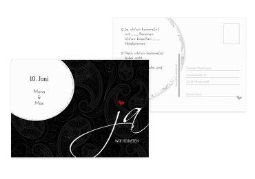 Hochzeit Antwortkarte Traumhochzeit