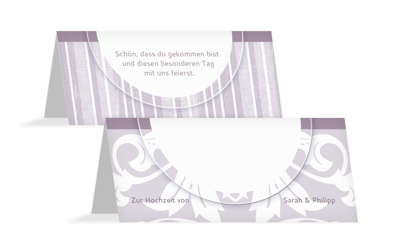 Hochzeit Tischkarte Streifenzauber
