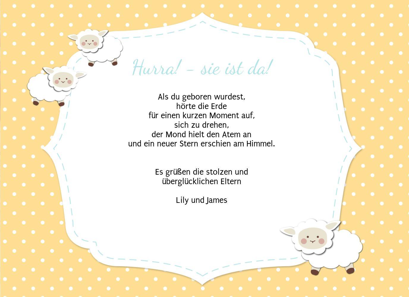 Ansicht 5 - Babykarte Schäfchenherde