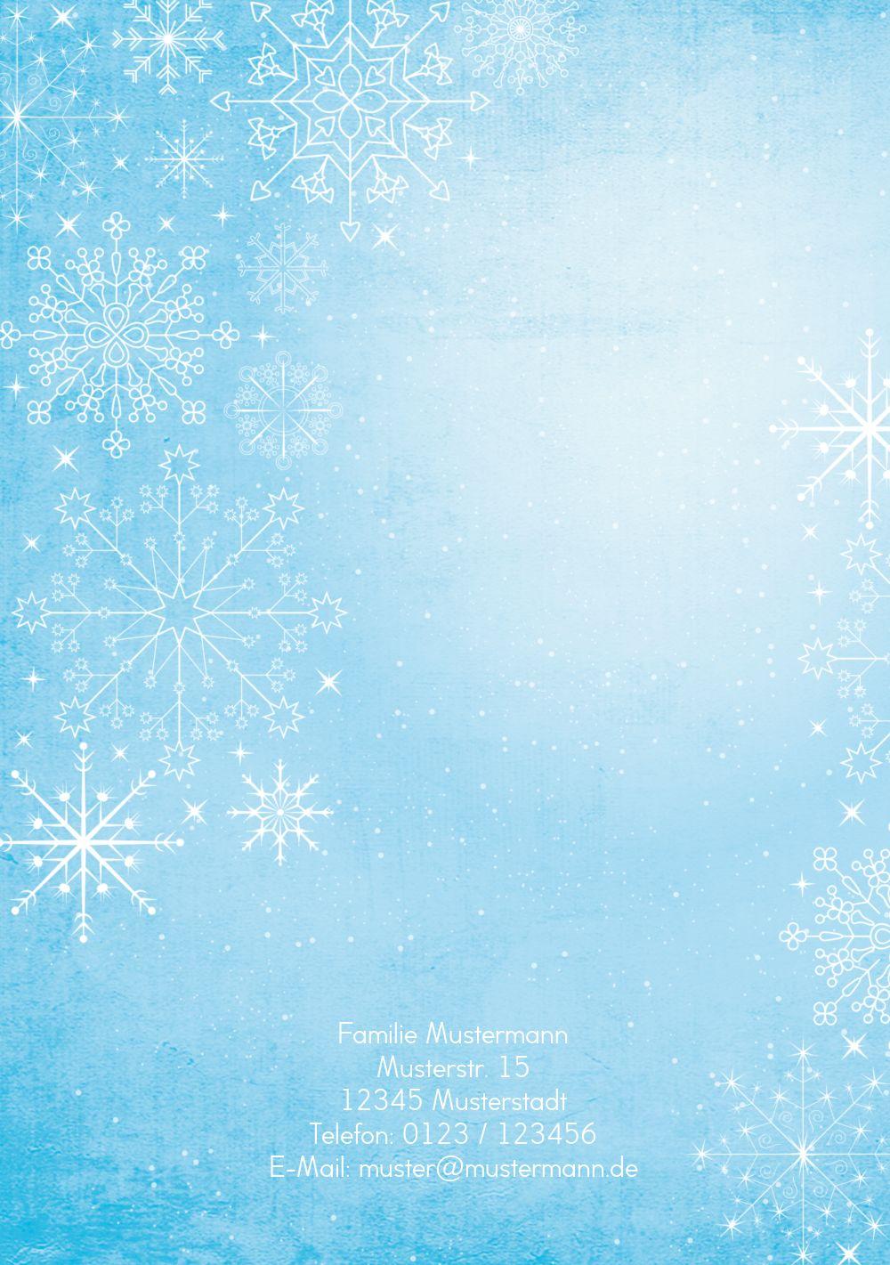 Ansicht 2 - Grußkarte Wintertraum