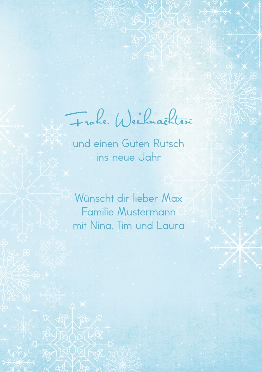 Ansicht 5 - Grußkarte Wintertraum