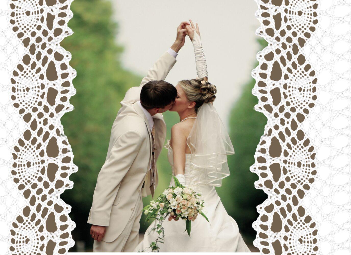 Ansicht 4 - Hochzeit Dankeskarte Vintage Schleife