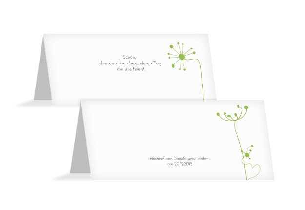 Hochzeit Tischkarte abstrakte Blumen