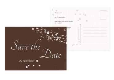 Save-the-Date romantic flower