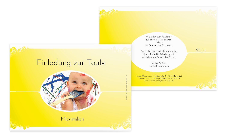 Taufkarte Neu Barock