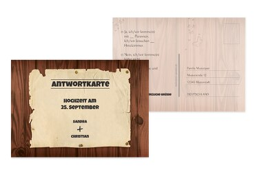 Antwortkarte Steckbrief braunmatsch 148x105mm