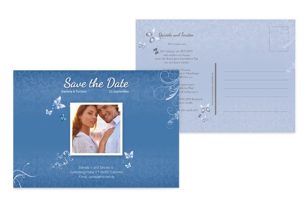Save-the-Date butterfly