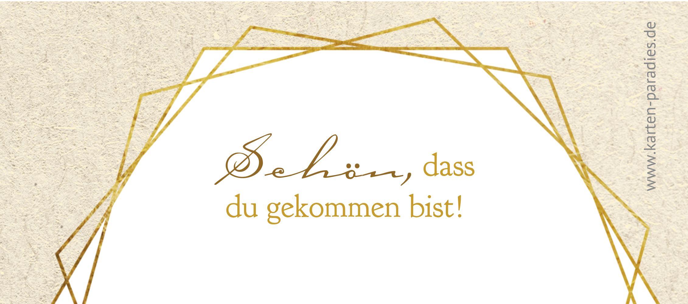 Ansicht 2 - Konfirmation Tischkarte Goldrausch