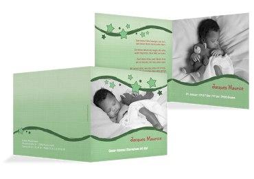 Baby Geburtskarte Sternenwelle