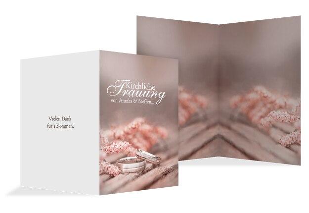 Hochzeit Kirchenheftumschlag Ringe
