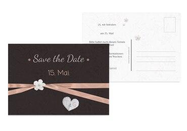 Hochzeit Save-the-Date sanfte Blüte
