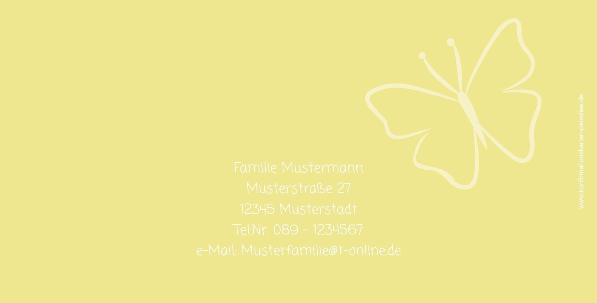 Ansicht 3 - Konfirmation Danke Butterfly 2