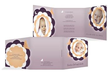 Baby Dankeskarte Blütenzauber