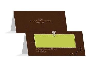 Hochzeit Tischkarte Liebesnachricht