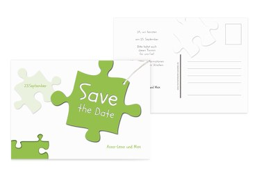 Save-the-Date Puzzleteile