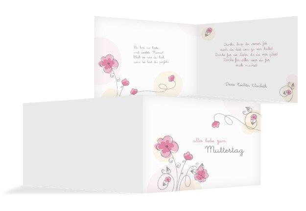 Muttertagskarte Blumentraum