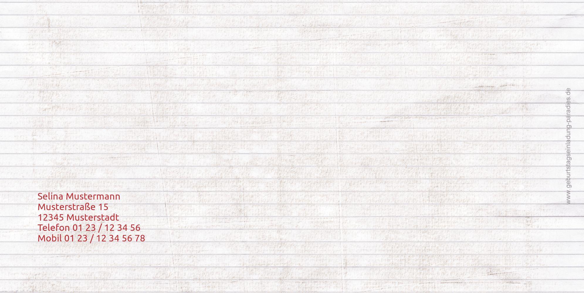 Ansicht 2 - Einladungskarte Tierische Elemente Foto