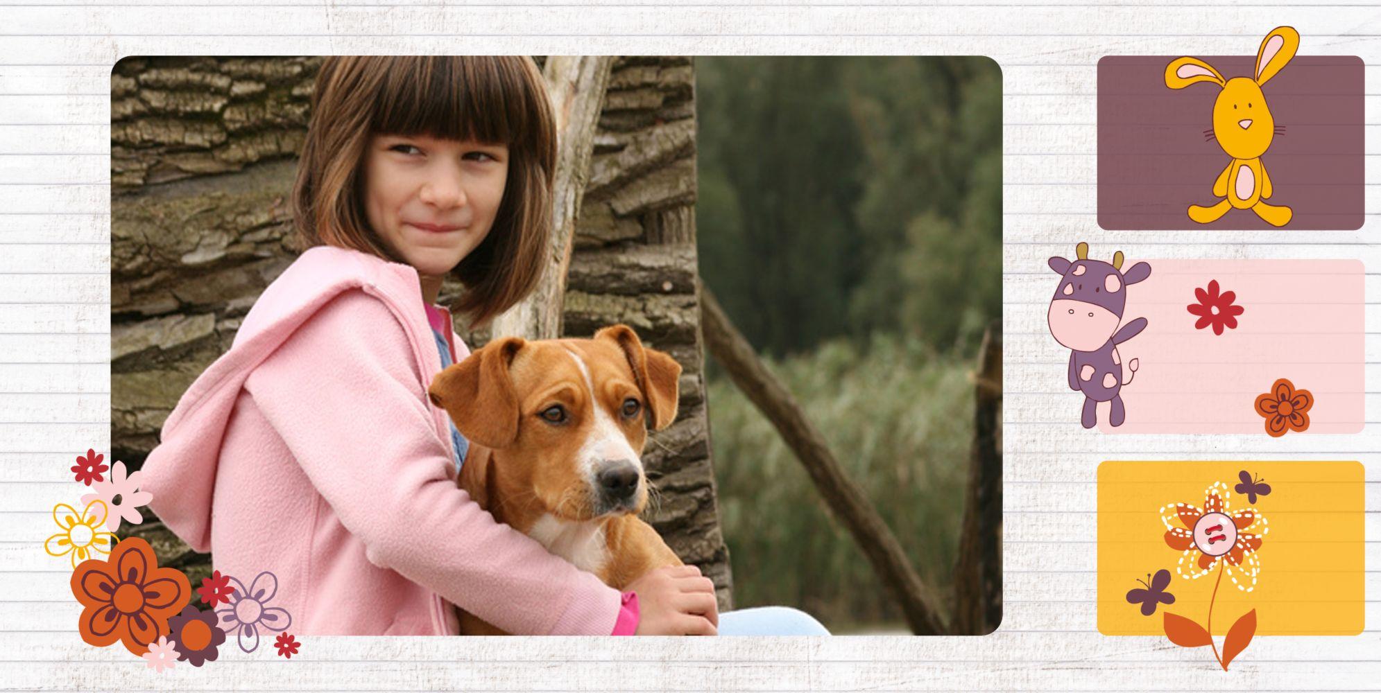 Ansicht 4 - Einladungskarte Tierische Elemente Foto