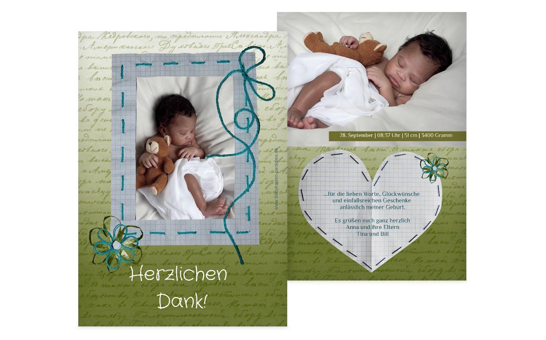 Baby Dankeskarte Schnipp-Schnapp