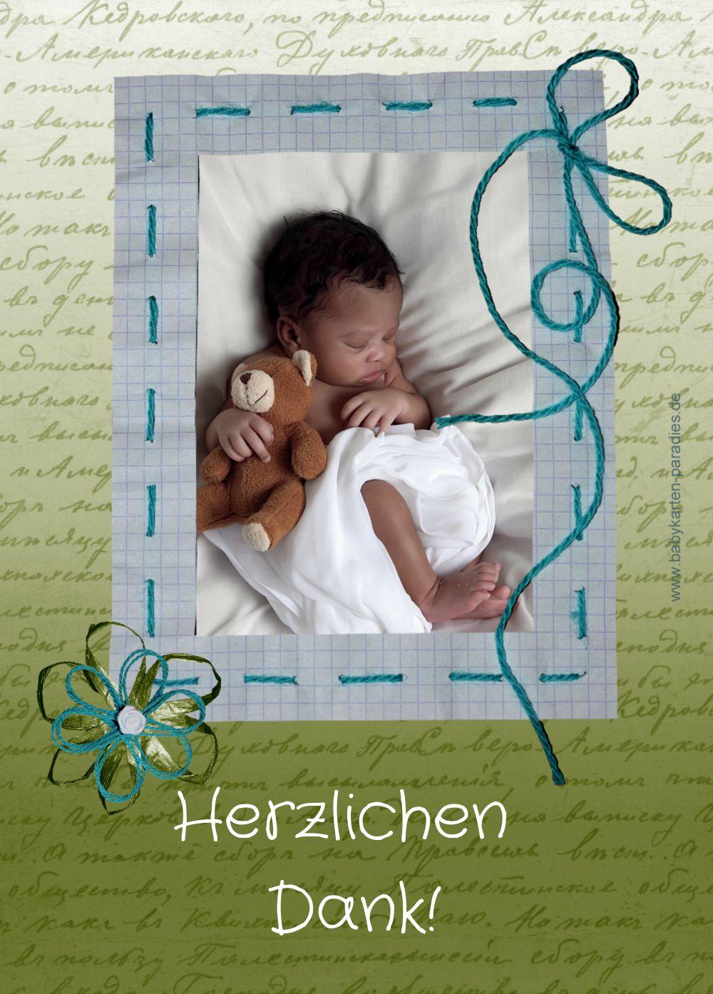 Ansicht 2 - Baby Dankeskarte Schnipp-Schnapp