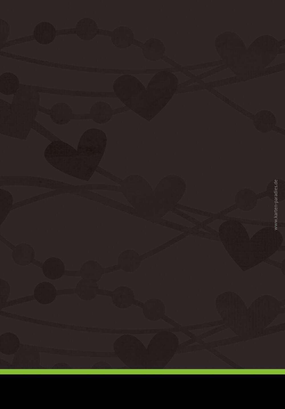 Ansicht 2 - Hochzeit Kirchenheft Umschlag wilde Herzen