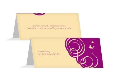 Firmung Tischkarte Butterfly