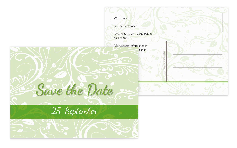 Save-the-Date Blättertraum