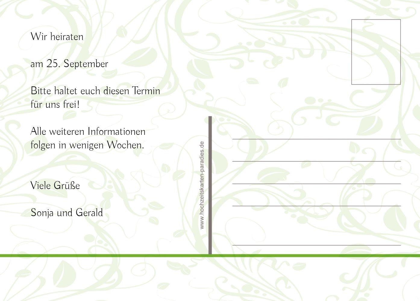 Ansicht 3 - Save-the-Date Blättertraum