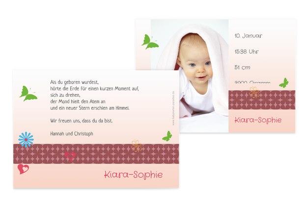 Babykarte colorful garden