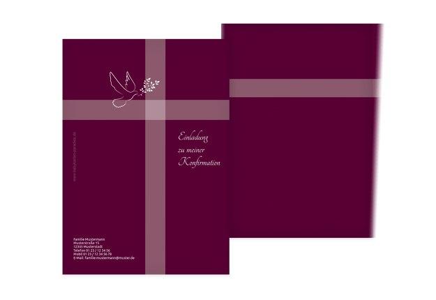 Einladungskarte zur Konfirmation Glaubensbote