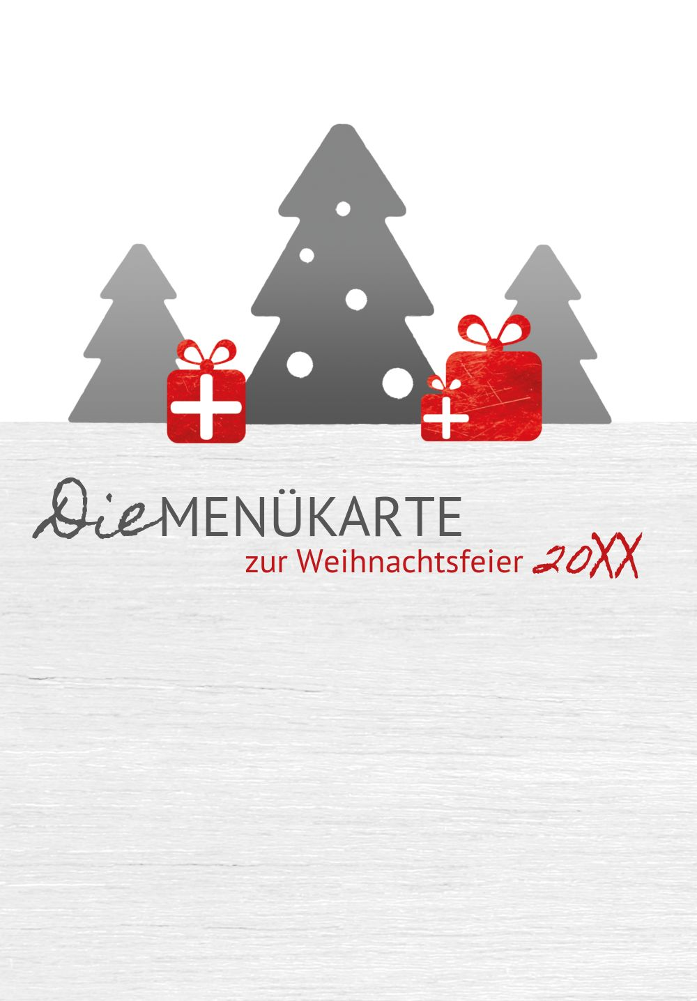 Ansicht 3 - Weihnachtsmenükarte Geschenkebaum