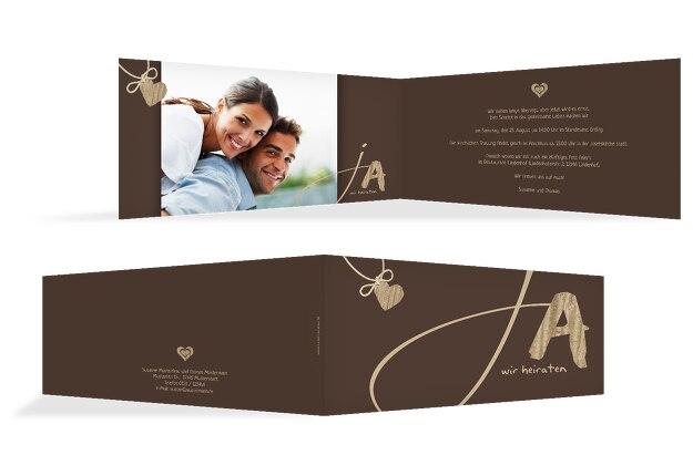 Hochzeit Einladungskarte 2 natürlich Ja