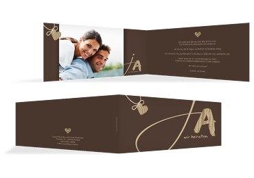 Hochzeit Einladungskarte natürlich Ja