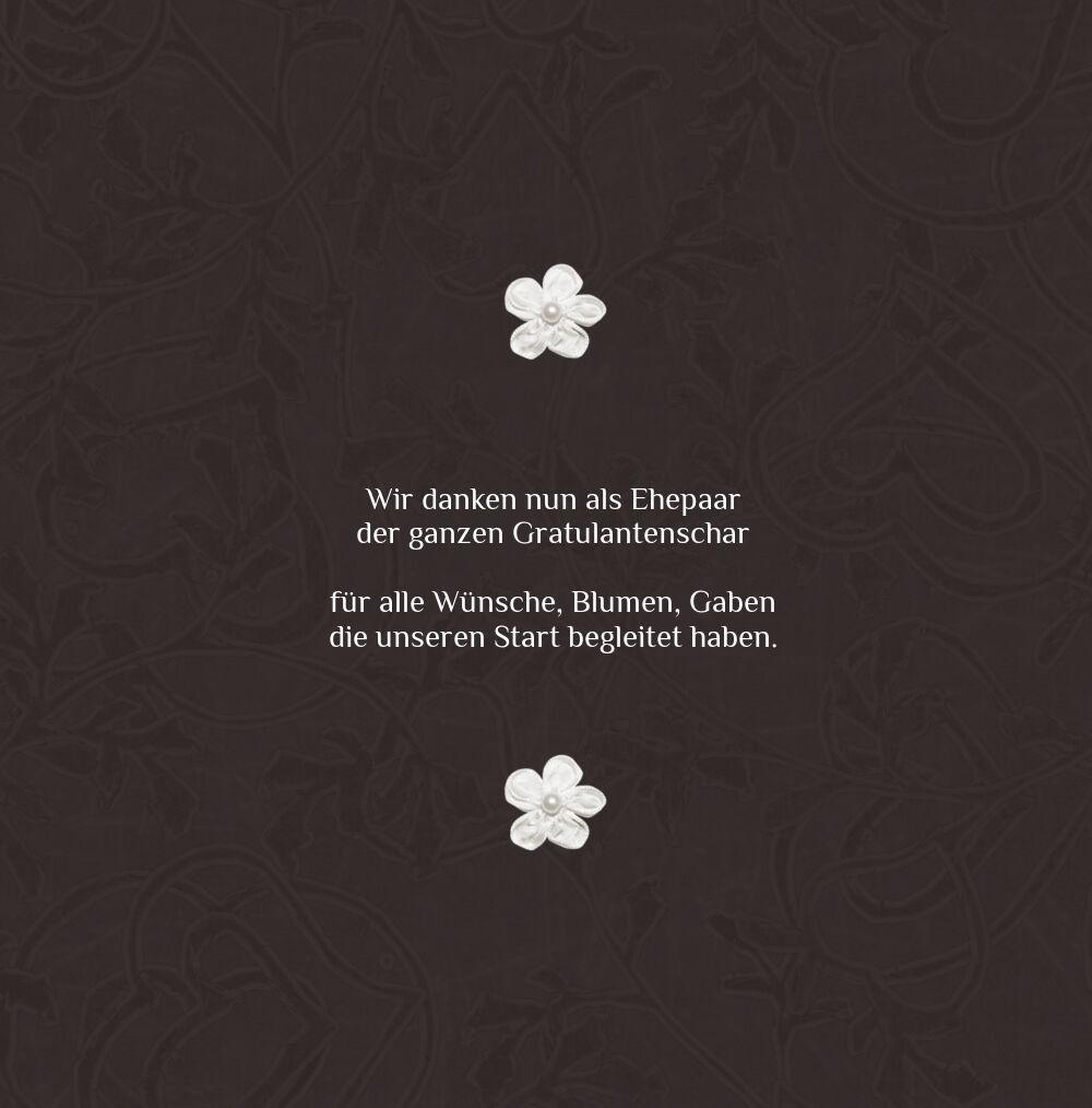 Ansicht 4 - Hochzeit Dankeskarte 2 sanfte Blüte