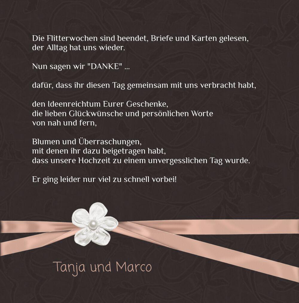 Ansicht 5 - Hochzeit Dankeskarte 2 sanfte Blüte