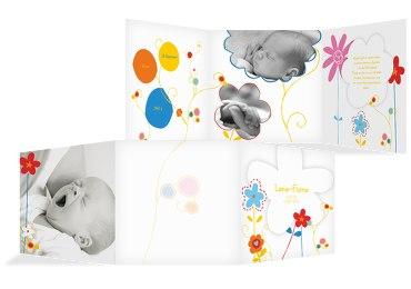 Baby Dankeskarte Zauberblumen